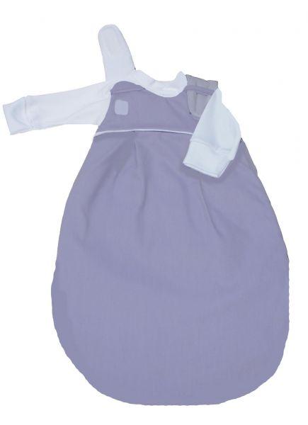 """SET: Picosleep Babyschlafsack """"flieder"""", inkl. Baumwoll-Langhemdchen in weiß"""
