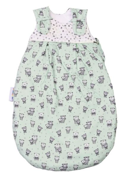Picosleep Babyschlafsack Bärchen lindgrün