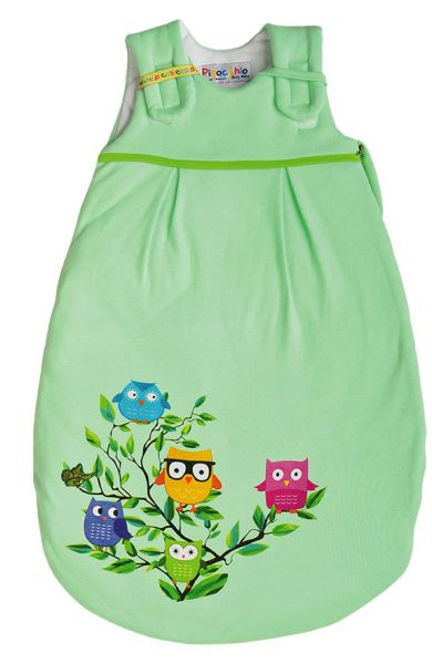 Picosleep Babyschlafsack lindgrün mit Eulendruck