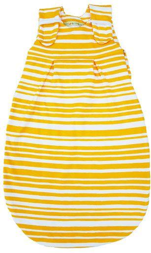 Picosleep Babyschlafsack SOMMER in gelb-weiß gestreift