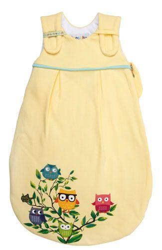 Picosleep Babyschlafsack gelb mit Eulendruck