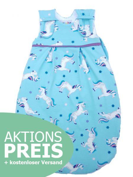 Picosleep Babyschlafsack Einhorn aqua