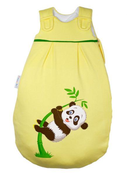Picosleep Babyschlafsack gelb mit Pandadruck