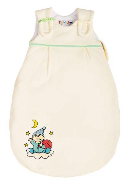 Biosleep Babyschlafsack Farbe ecru mit Wichtelstick