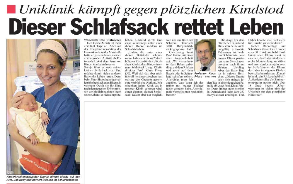 Presseberichte Picosleep der Babyschlafsack