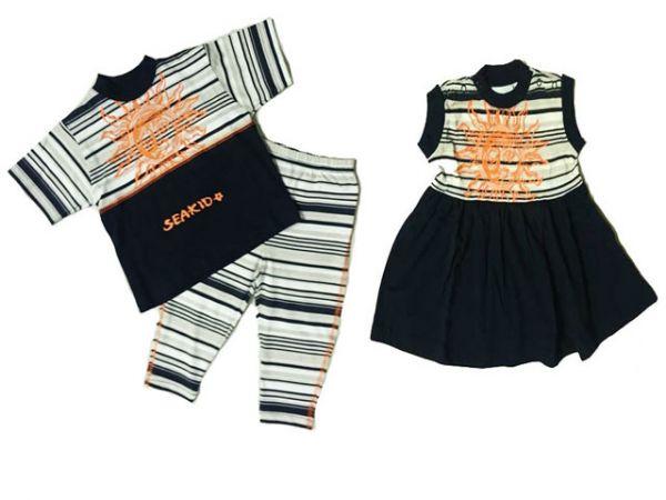 Kleidchen oder Leggin mit Shirt (2-tlg) aus Baumwolle