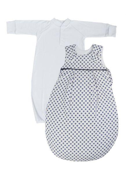 """SET: Picosleep Babyschlafsack """"Seestern"""", inkl. Baumwoll-Langhemdchen in weiß"""